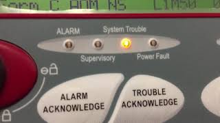 System trouble on the FCi fire alarm annunciator?