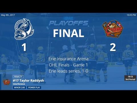 Mississauga Steelheads vs. Erie Otters - Game 1 - OHL Championship Finals