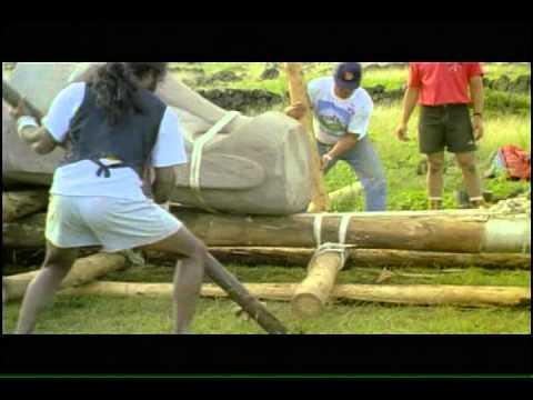 Rolling a moai