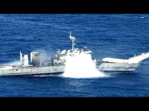 Submarine TORPEDO ATTACK training! And HARPOON MISSILE LAUNCHED during same exercise to SINK SHIP