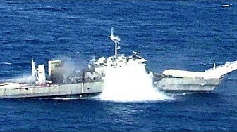 Submarine TORPEDO ATTACK training! (And HARPOON MISSILE LAUNCHED during same exercise to SINK SHIP.)