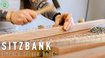 So baust du dir eine BANK aus MASSIVHOLZ! | Sitzbank selber bauen #2 |Jonas Winkler