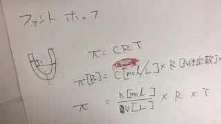 気体の状態方程式とファントホッフの法則