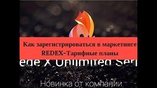 Как зарегистрироваться в маркетинге REDEX Тарифные планы
