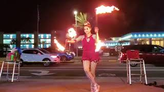 Fire Twirling at Grand Opening Event