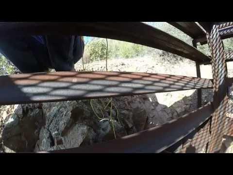 Arizona mine shaft exploring with a gopro camera.