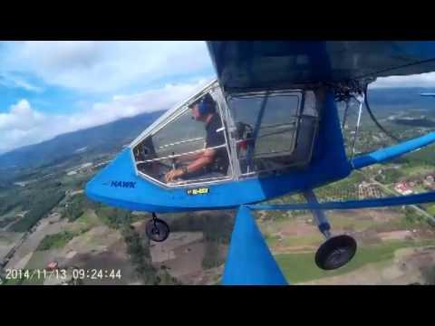 cgs hawk microlight fly to tenom