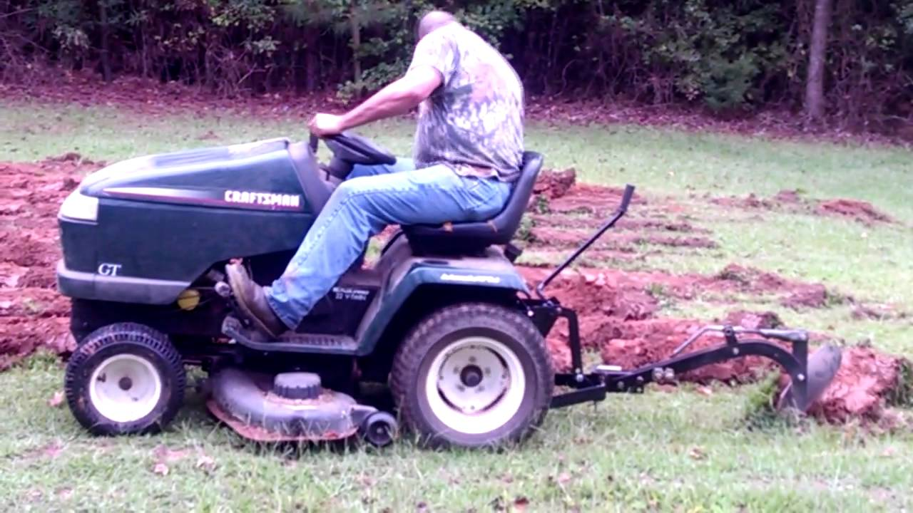 medium resolution of plowing new garden spot with craftsman gt