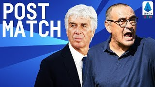 Atalanta 1-3 Juventus | Gasperini & Sarri Post Match Press Conference | Serie A