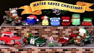 Mater Saves Christmas Holiday Edition 14 CARS Diecasts Story-Tellers Santa Claus Car Disney Reindeer