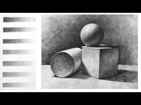 видео: Основы СВЕТОТЕНИ в Рисунке Карандашом / Учимся РИСОВАТЬ карандашом