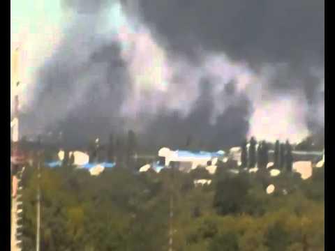 The shelling of Donetsk airport September 14th
