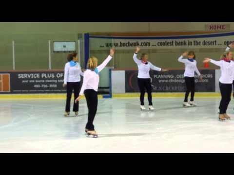 Kerry Novick in the group skating show at the Dorothy Hamill Skating Camp