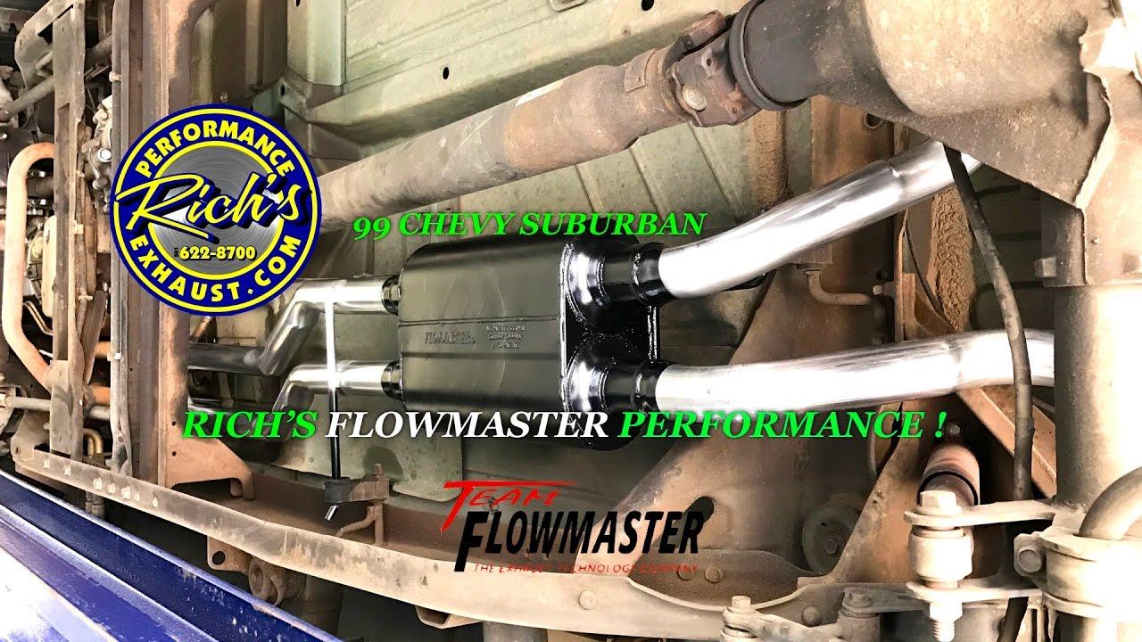 4K 99 CHEVY SUBURBAN FLOWMASTER TRUE DUAL PERFORMANCE ...
