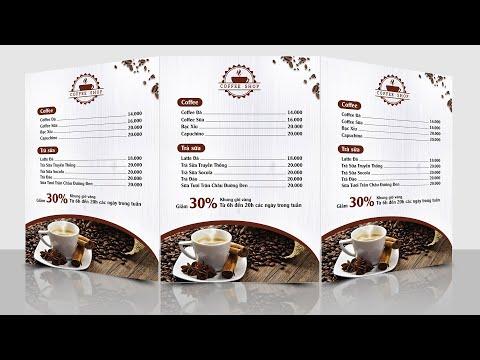 Hướng dẫn thiết kế Menu đơn giản cho người không chuyên bằng Photoshop CC2019 | Hải Thanh Design