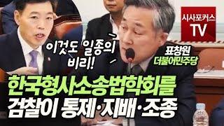 """표창원 """"한국형사소송법학회를 검찰이 통제·지배·조종…"""""""