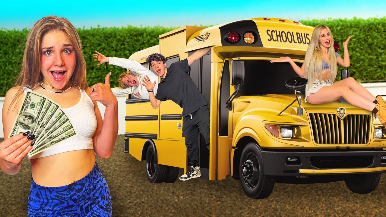 Download LAST TO LEAVE SCHOOL BUS WINS $20,000! 🍎   Piper Rockelle