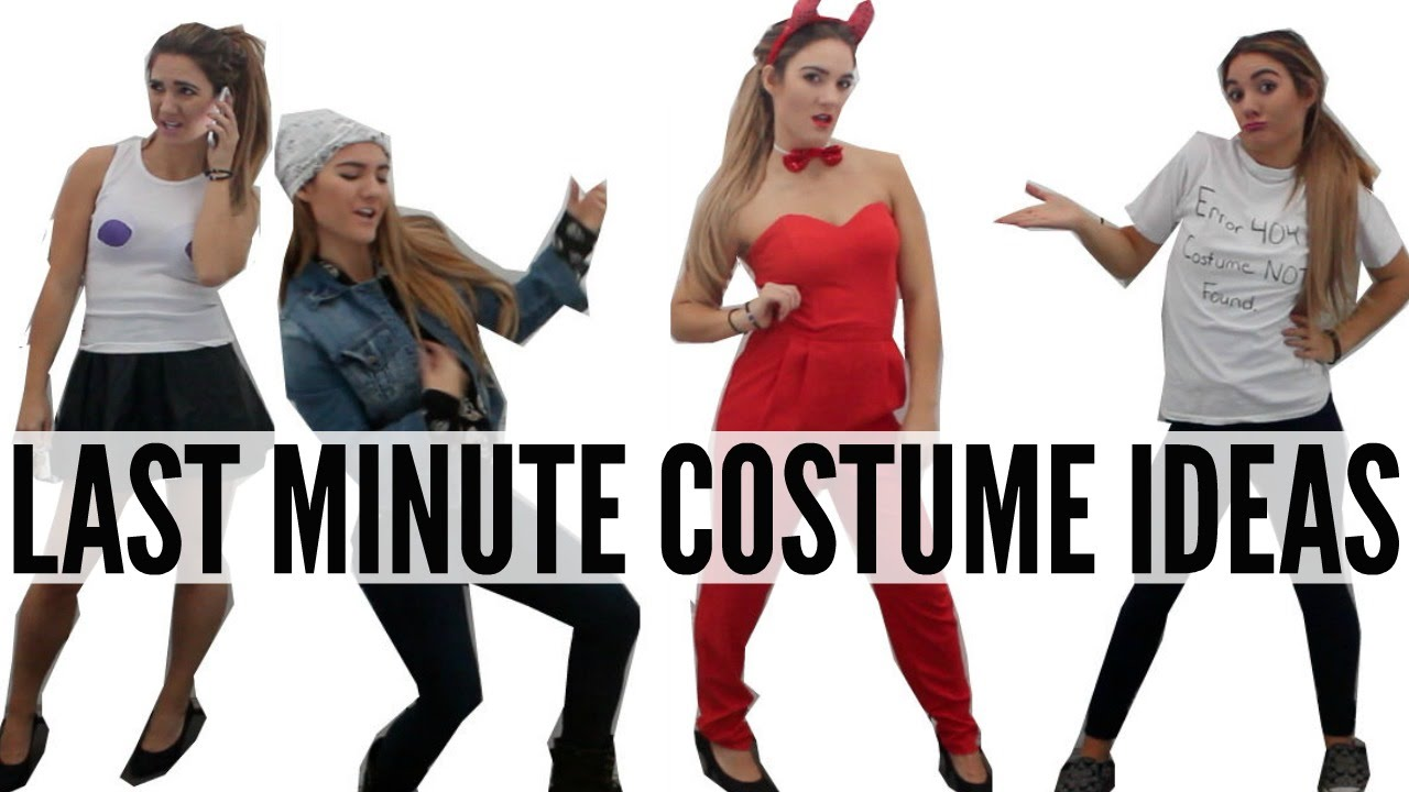 sc 1 st  YouTube & Last-Minute DIY Halloween Costume Ideas| CHEAP + QUICK - YouTube