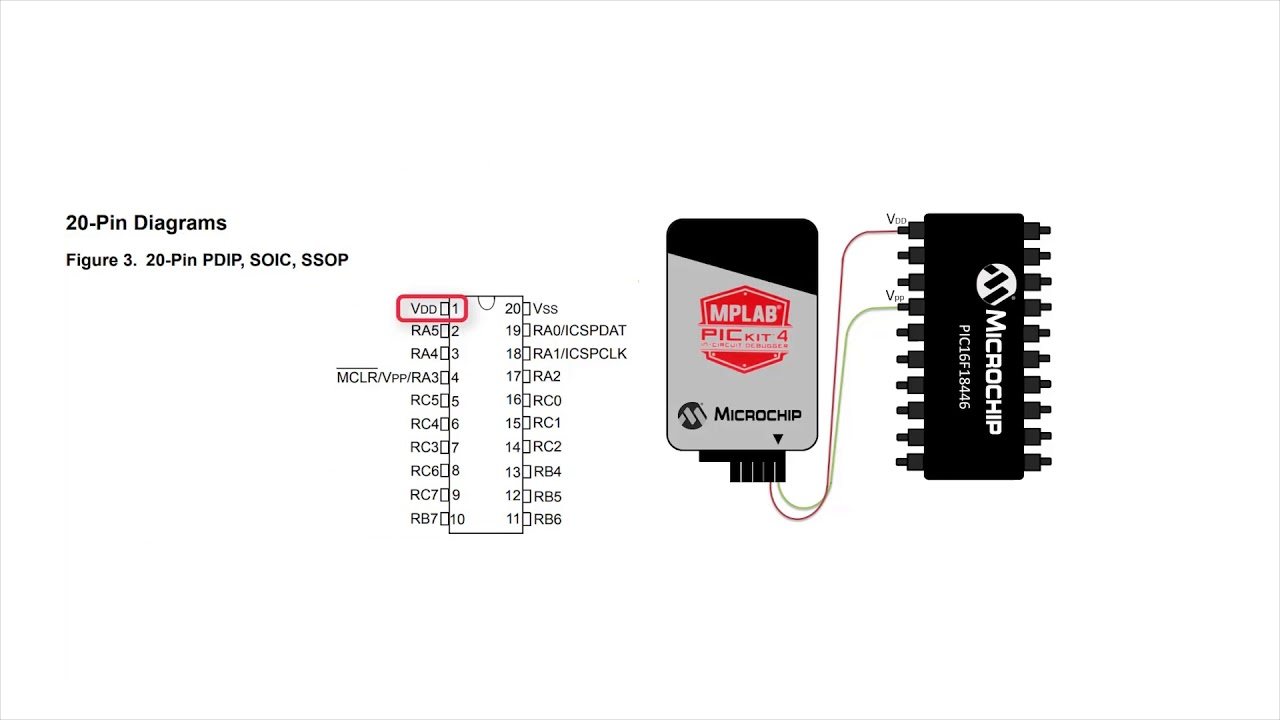 pickit 3 circuit diagram how to program a pic   mcu with pickit    4 in circuit debugger youtube  pickit    4 in circuit debugger