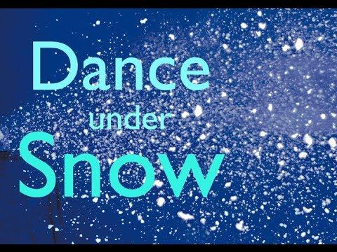 Winter Dance Under Snow Machine Dj Vancouver Party Lights