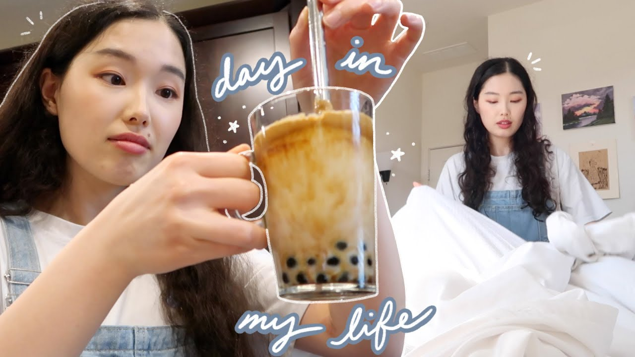 day in my life vlog: making dalgona coffee boba, self-care, treating myself :')