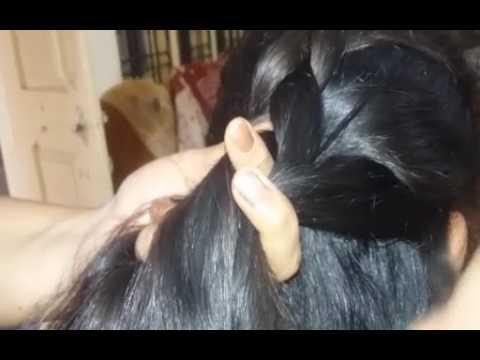 Reverse French Plait Hair Style How To Make Reverse French Hair Braid How To Put Reverse French Flat Youtube
