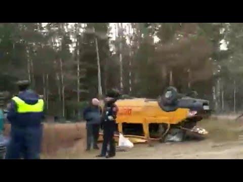 Восемь детей пострадали при аварии с участием школьного автобуса во Владимирской области.