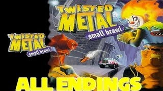 Twisted Metal Small Brawl All Endings + Axel Censored End