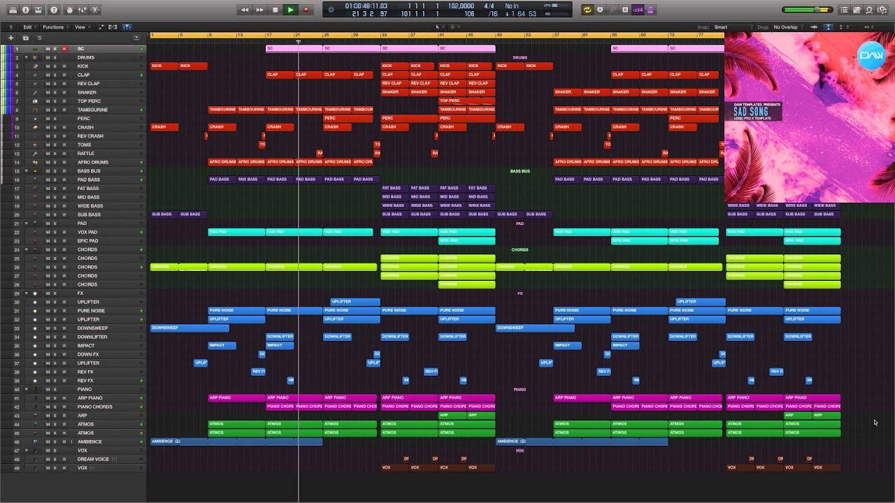 Sad Song Logic Pro X Template
