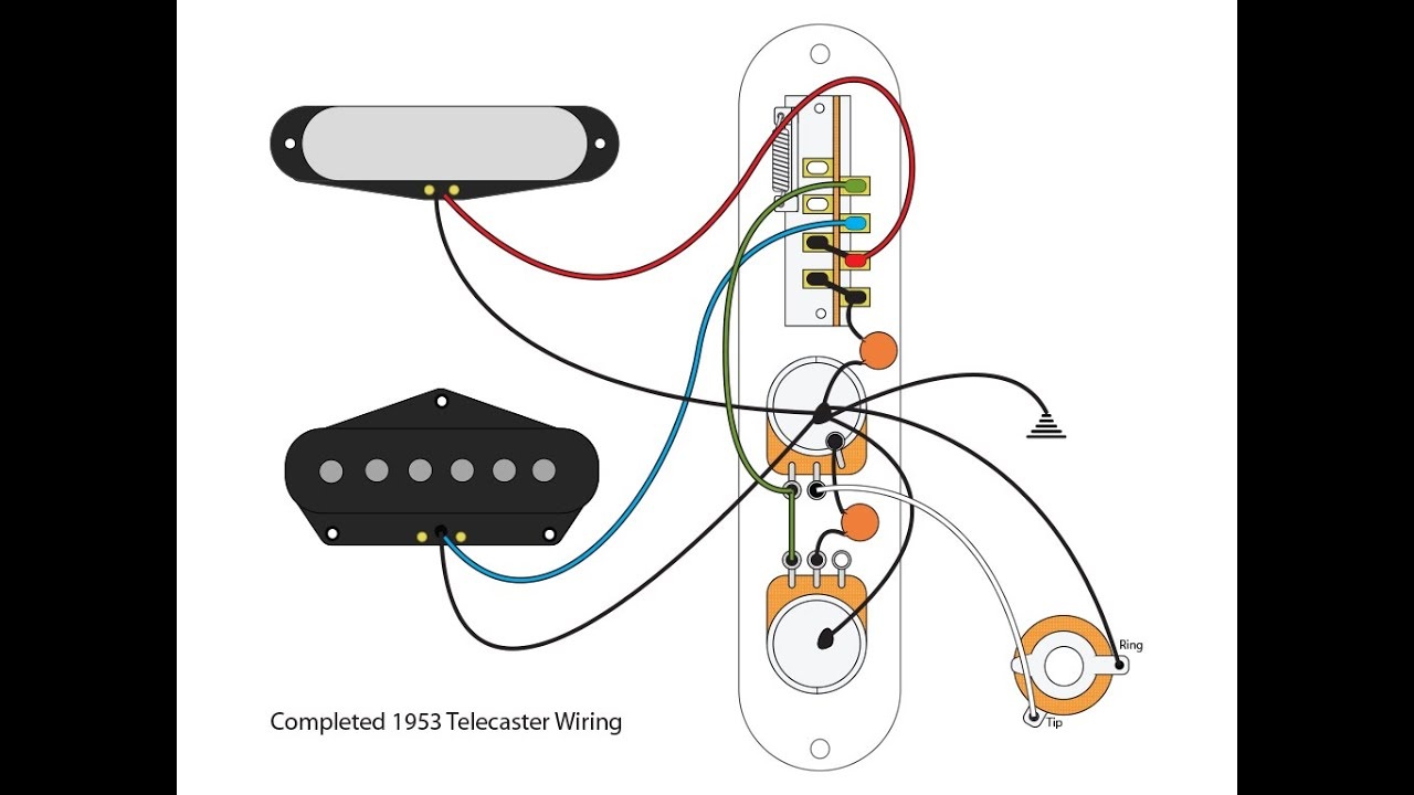 Fender Telecaster Wiring Schematic Detailed Schematics Diagram Diagrams 3 Different Way 53 Blackguard Tele Scheme Youtube Middle Pickup