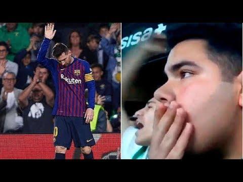 Reacciones al gol de Messi vs Betis / Ovacion en el Villamarin