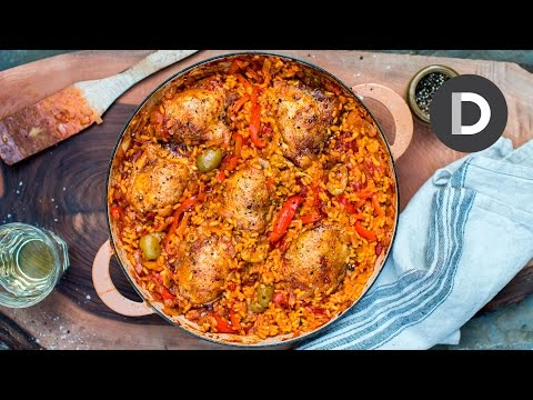 Arroz Con Pollo! How to make Best Chicken & Rice Recipe!
