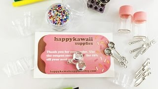 Kawaii supplies review - Miniature Food Jewelry Supplies - Happy Kawaii Supplies Shop Review