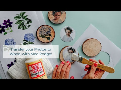 DIY: Learn how to Easily Transfer your Photos onto Wood, with Mod Podge!