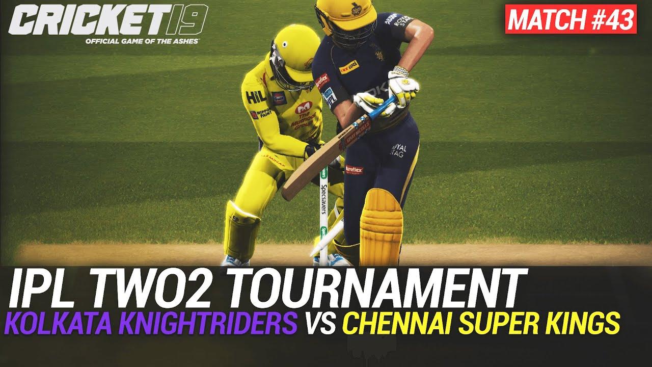 CRICKET 19 - IPL2020 TWO2 - MATCH #43 - KOLKATA KNIGHTRIDERS vs CHENNAI SUPER KINGS