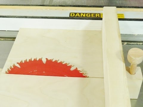 Make a Table saw sled with an Awesome safety feature.