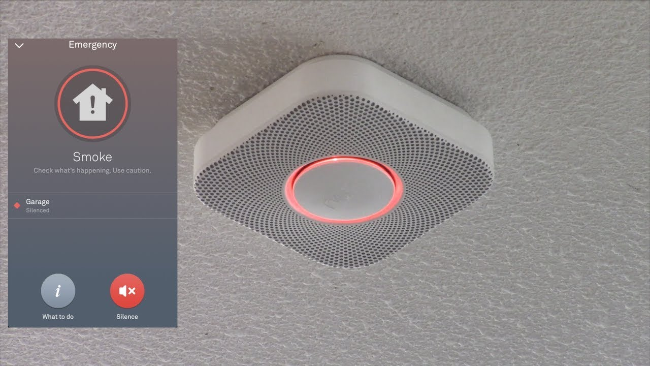 Testing The Nest Protect Smoke Alarm With Fire