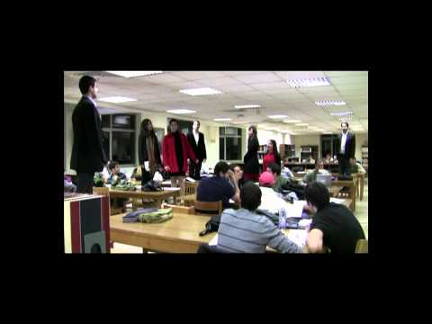 Christmas Caroling Flashmob At The Jafet Library, American University Of Beirut,