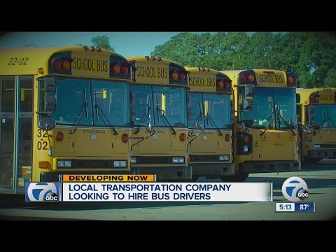 Local transportation company looking to hire bus drivers