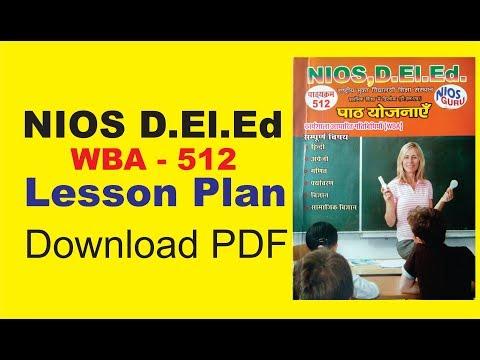 Solved Lesson Plan(WBA)download pdf