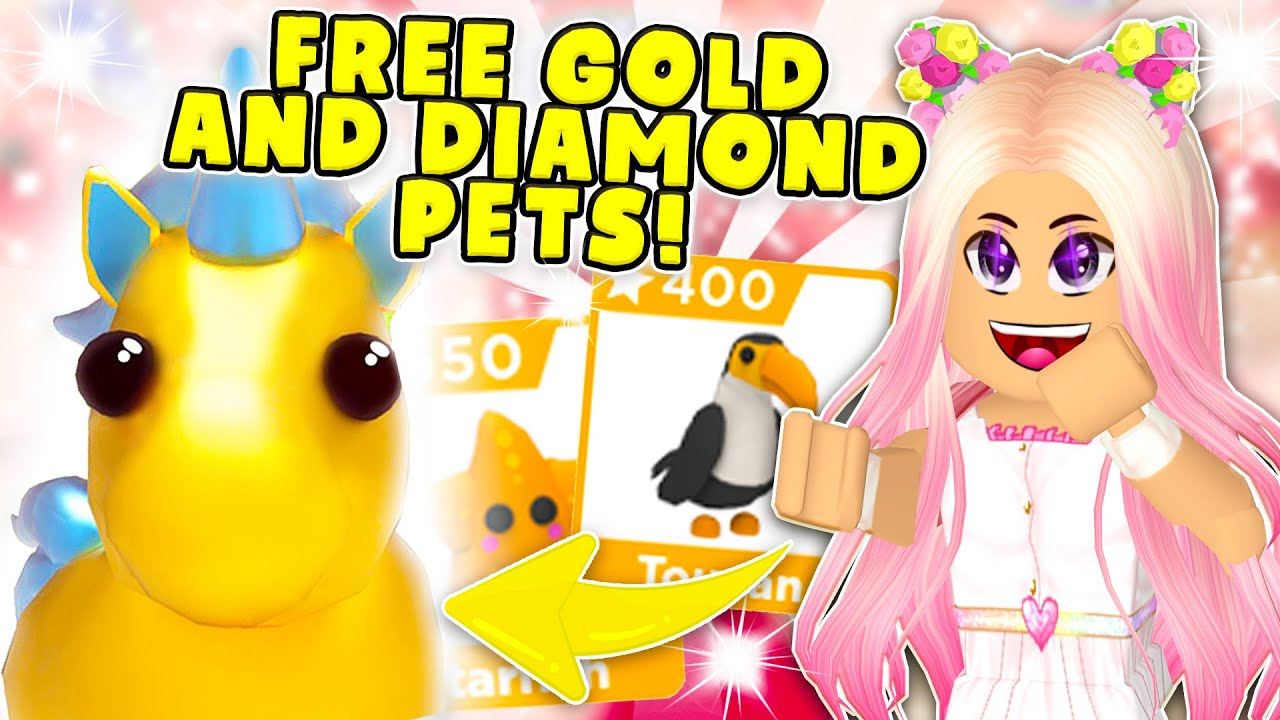 New Free Gold And Diamond Reward Pets New Eggs And Items In Roblox Adopt Me Star Rewards Update Youtube