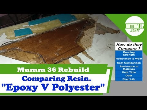 Compare Epoxy and Polyester Resin :- Mumm 36 Rebuild