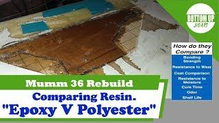 Compare Epoxy and Polyester Resin :- Mumm 36 Rebuild