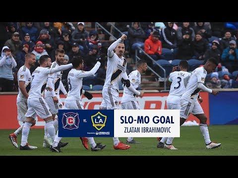 SLO-MO: Zlatan Ibrahimović puts the LA Galaxy ahead in Chicago