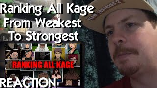 Ranking All Kage from Weakest to Strongest REACTION