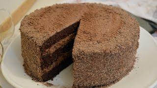 как сделать темный шоколадный бисквит