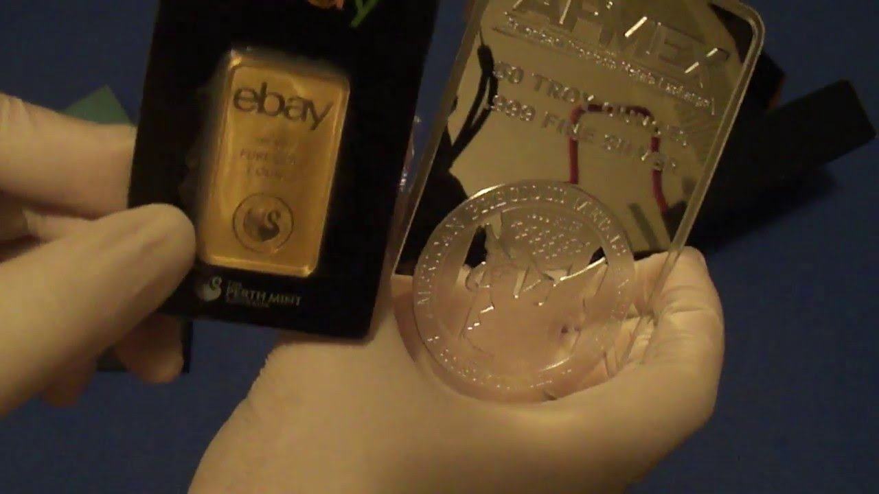 50 Ounce Apmex Silver Bar 8 Gram Gold Panda Youtube