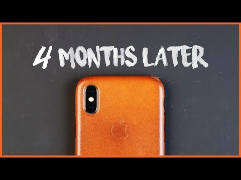 Apple iPhone Leather Case【4 Months Later】