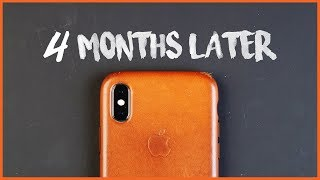 Apple iPhone X Leather Case【4 Months Later】