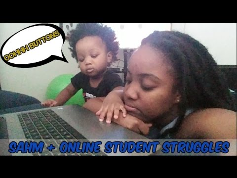 SAHM + ONLINE STUDENT STRUGGLES